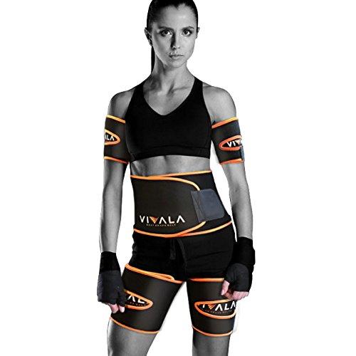 VIVALA シェイプアップベルト 二の腕 太腿 引き締め 発汗 ダイエット ベルト