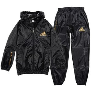 アディダス(adidas)サウナスーツ(日本向けサイズ)ジッパー・フード付 男女兼用Lサイズ(170cm)